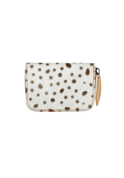Wild One Wallet - Black spot print