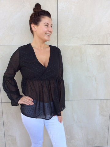 The 70's are back -top in black - Molly's Clothesline - 1