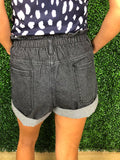 Turn up and shine shorts - Charcoal