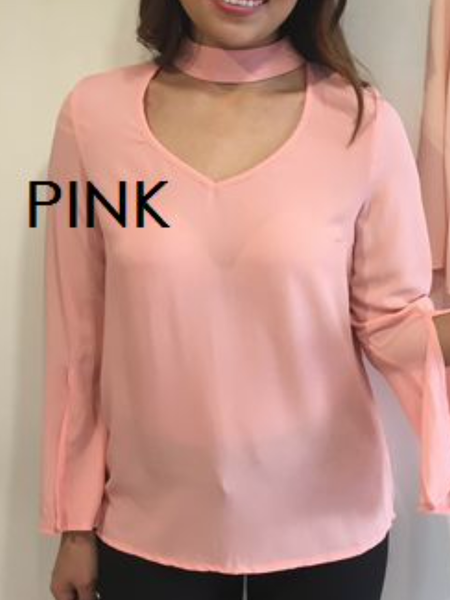 Coral choker style shirt - Molly's Clothesline