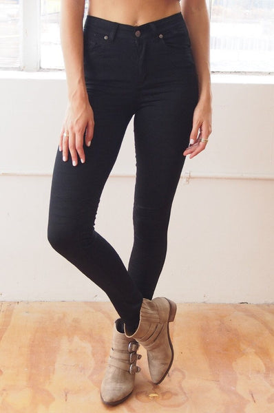 High Waisted Gelato Leg Jeans - Black