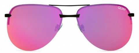 QUAY SUNNIES- The Playa- Blk/Pnk