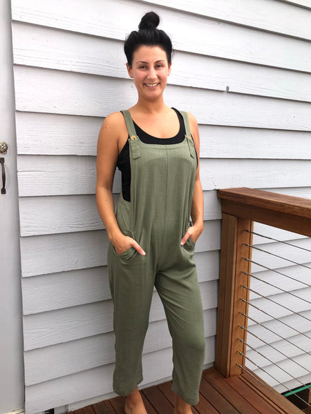 Marlee overalls in Khaki