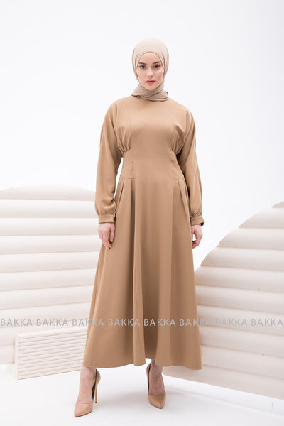 DRESS - 4227 - Dark Beige