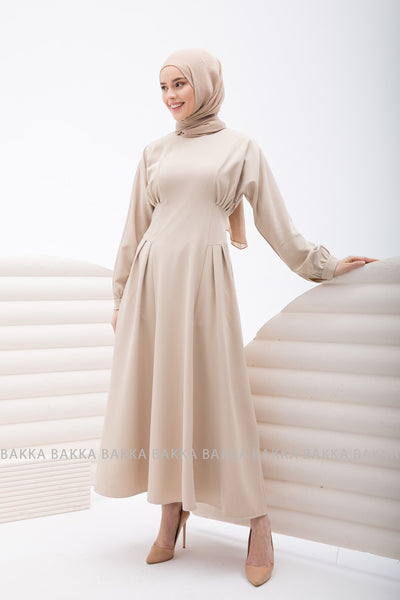 DRESS - 4227 - light beige