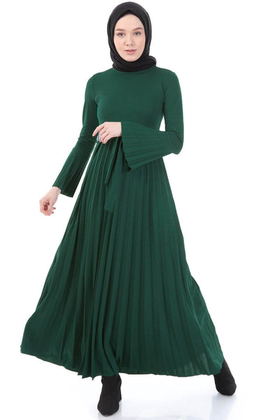 Dress- 4057 - DARK GREEN