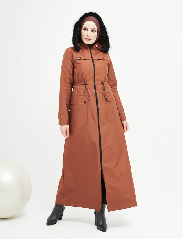 Trench Coat - 4487- BROWN