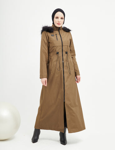 Trench Coat - 4488- OLIVE