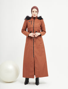 Trench Coat - 4488- BROWN