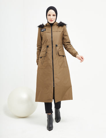 Trench Coat -  7464 - OLIVE
