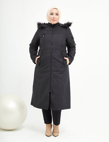 Trench Coat - 7466 - BLACK