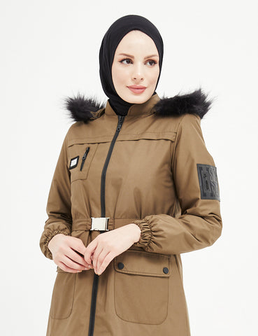 Trench Coat - 7470- OLIVE