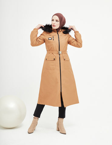 Trench Coat - 7470- CAMEL