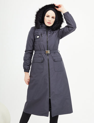 Trench Coat -  7470 - NAVY