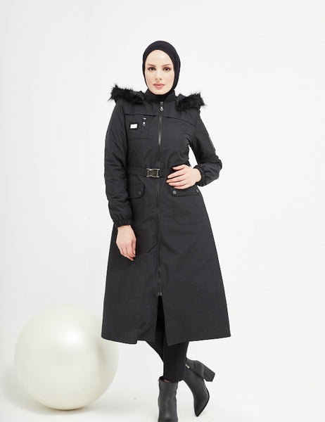 Trench Coat -  7470 - BLACK