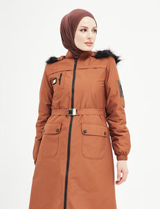 Trench Coat - 7470- BROWN