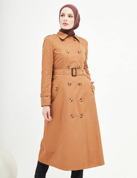 Trench Coat -  7477 - CAMEL