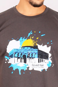 T-Shirt Dome Of The Rock CHARCOEL