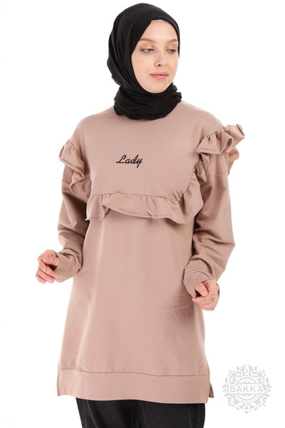 BLOUSE   -  6527- BROWN