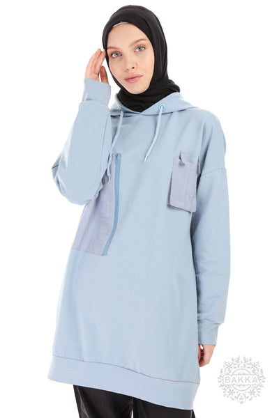 BLOUSE   -  6523- BABY BLUE