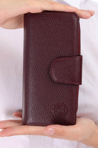 Leather wallet - Grape