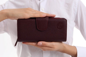 481 - Leather wallet - Grape