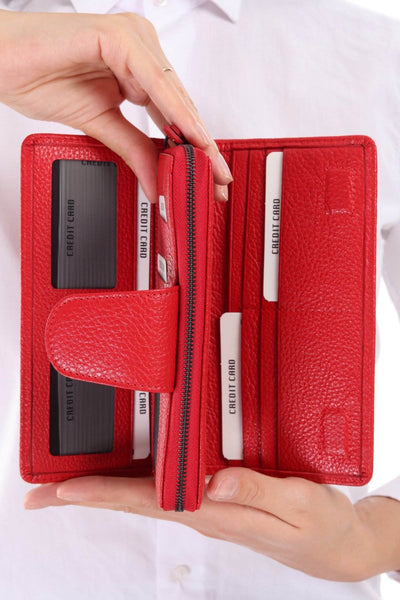 481 - Leather wallet - Red