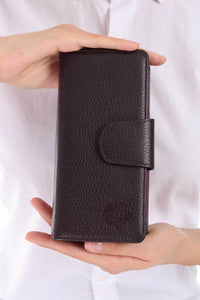 Leather wallet - Purple