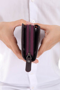 481 - Leather wallet - Purple
