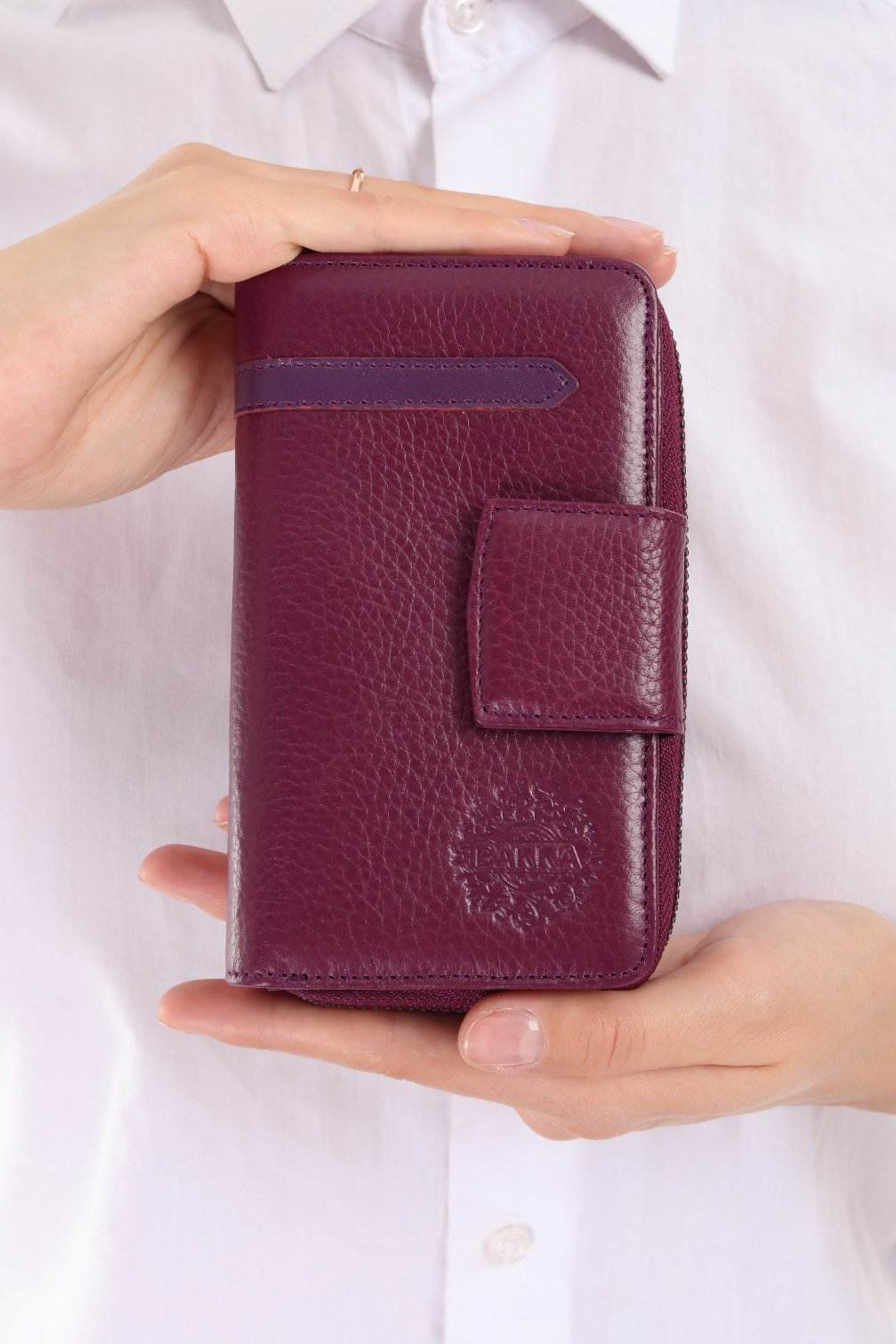 471 - Leather wallet - Grape