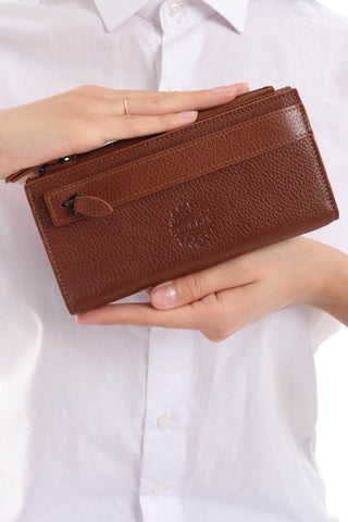 3760 - Leather wallet - Browne