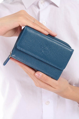 425 - Leather wallet -  Teal