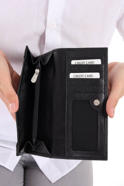 464 - Leather wallet - Black