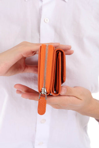 425 - Leather wallet - Orang