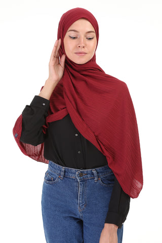 Striped SHAWL- 509 -  MAROON