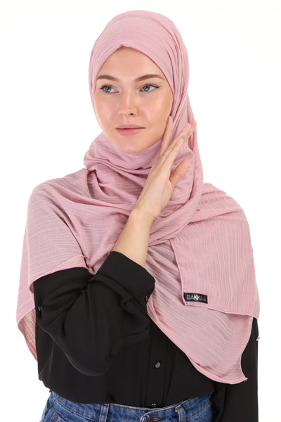 Striped SHAWL- 514-Pink