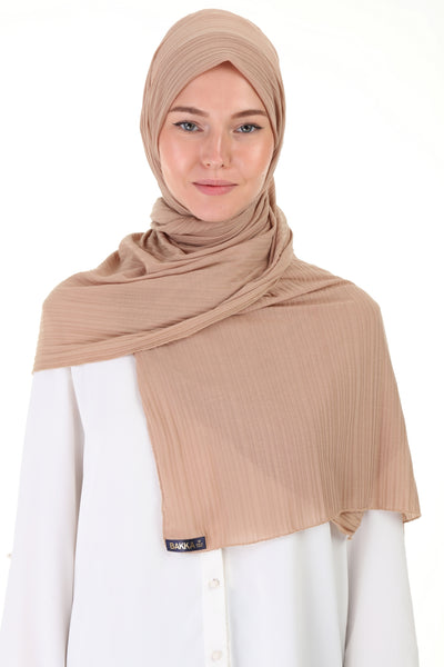 Striped SHAWL -  512- Caramel