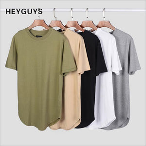 Bend the Trend summer Solid Color Curved Tshirt