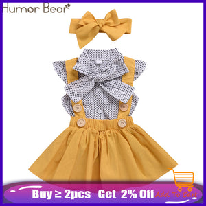 Bend the Trend Humor dove Baby Girls Clothes Sets 2