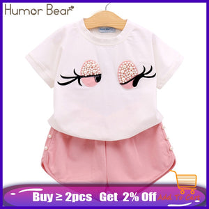 Bend the Trend Humor Bear Girls Clothing Set