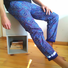 Load image into Gallery viewer, Royal peacock shweshwe pants