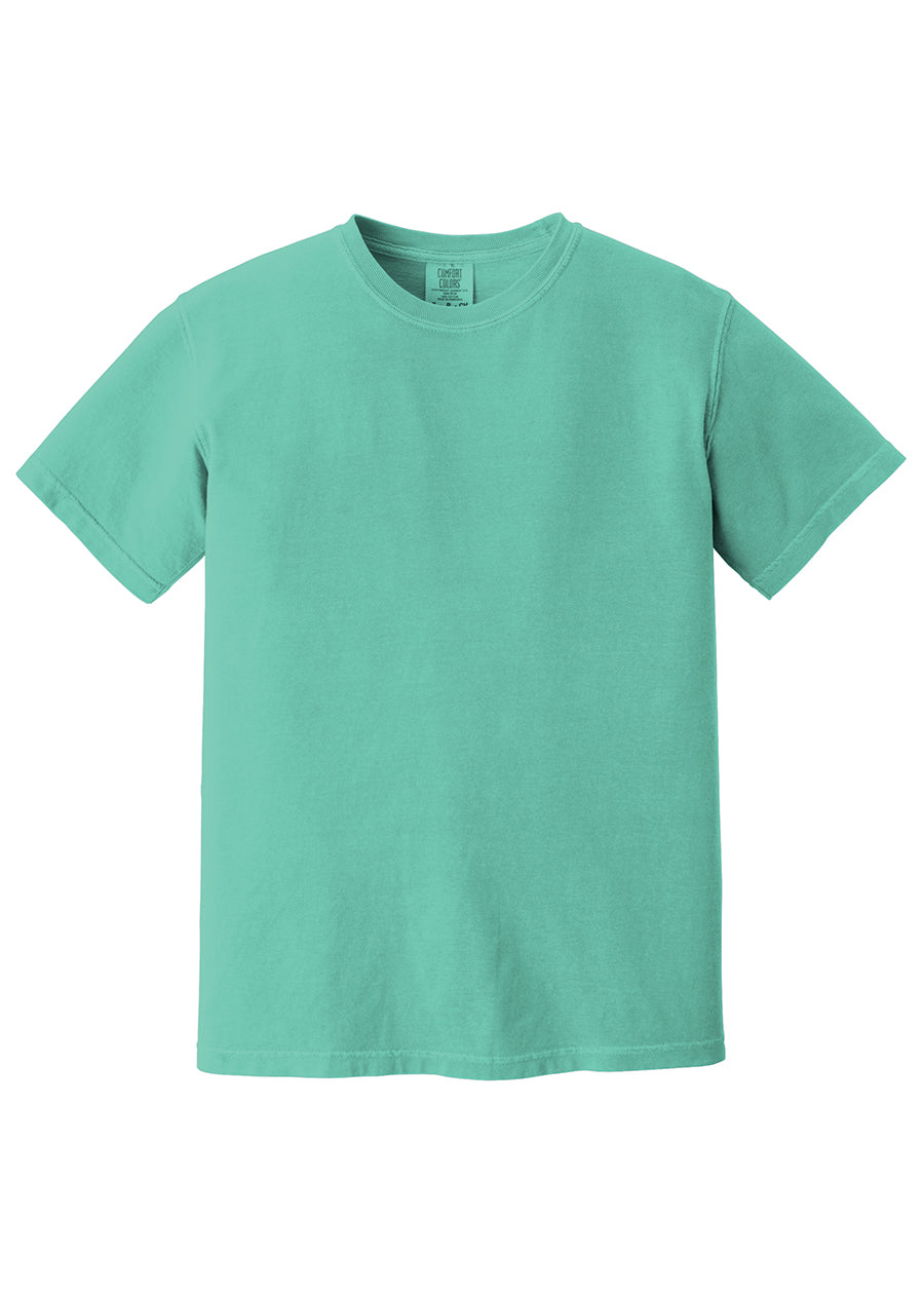 Comfort Color Left Chest Monogrammed Tee