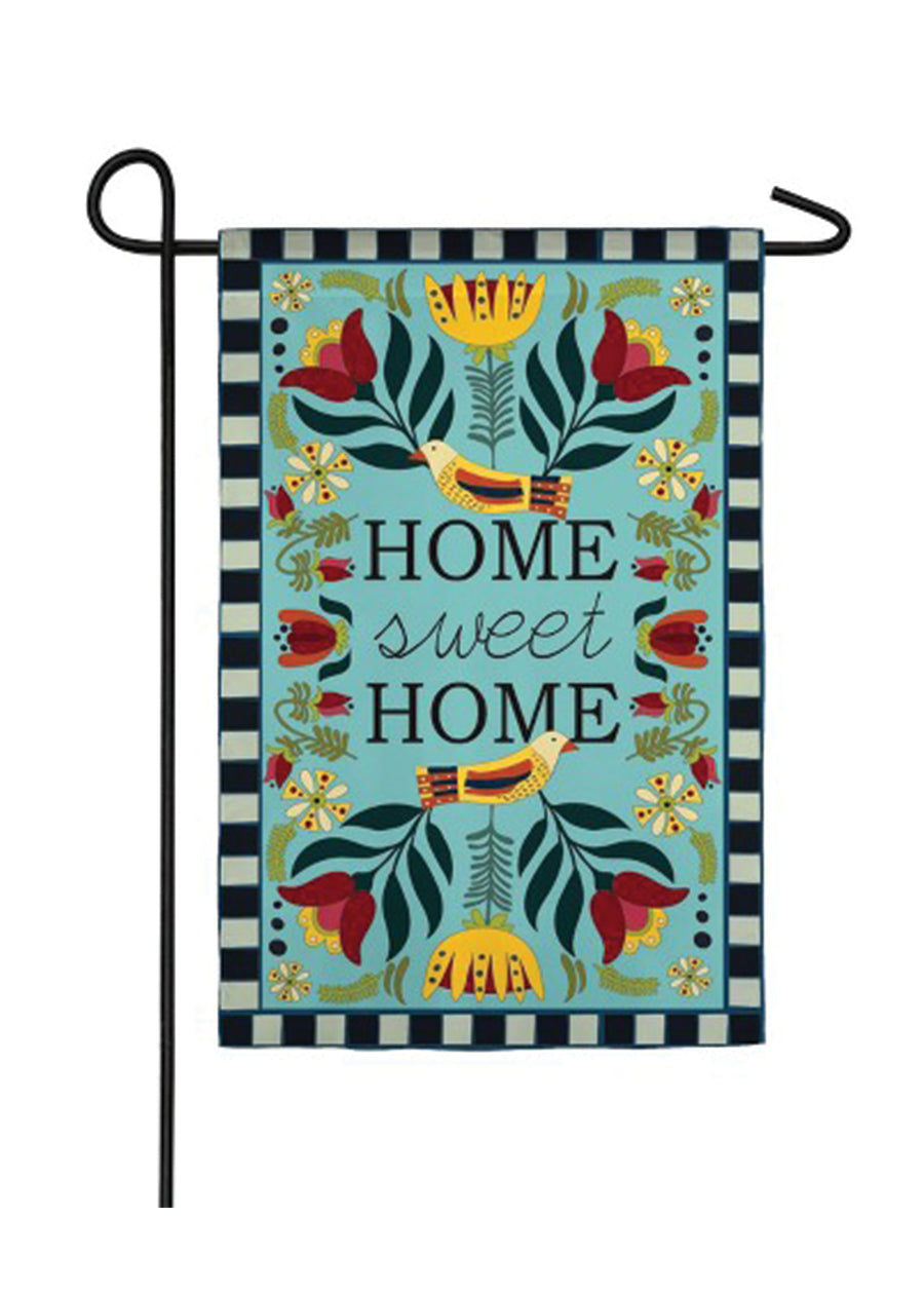 Homespun Home Sweet Home Flag