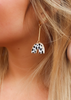 Gold Half Circle Dalmation Earrings
