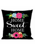 Floral Home Sweet Home Interchangeable Pillow Cover