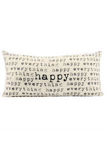 """Happy""  Repeated Pillow"