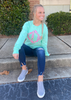Long Sleeve Comfort Colors Applique Tee