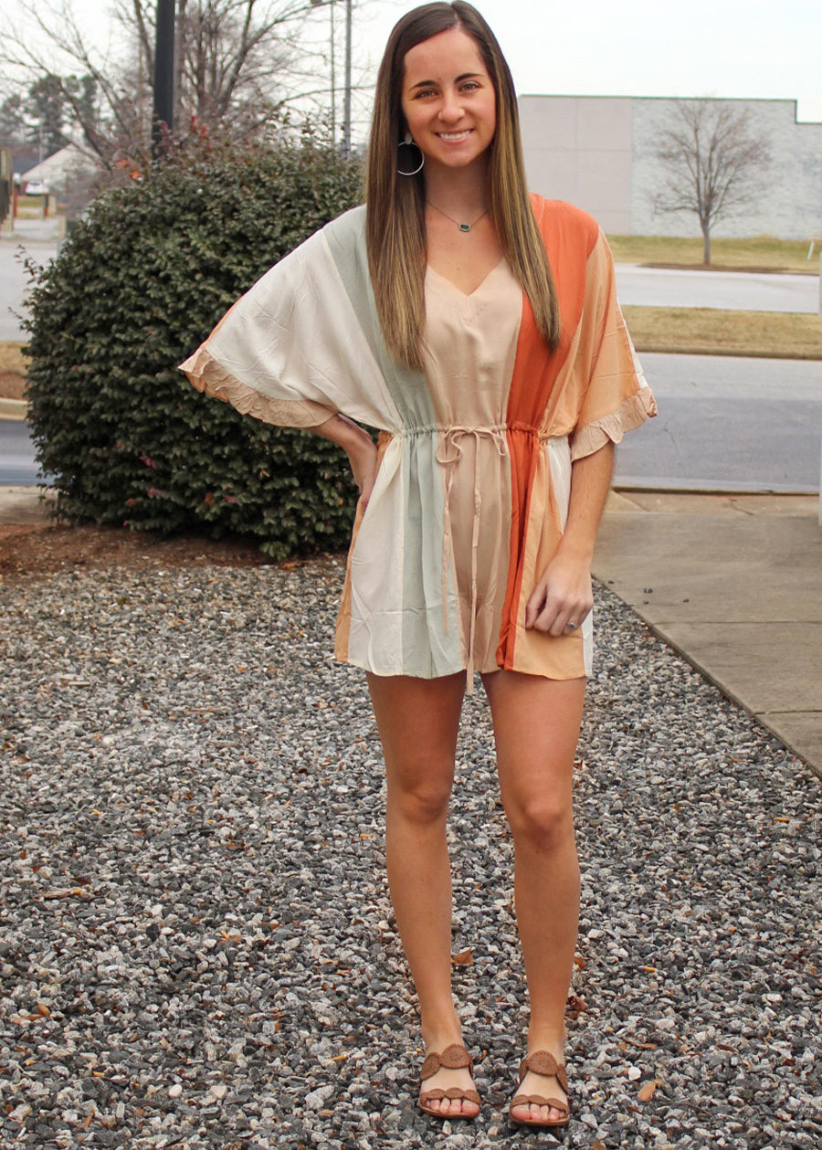 Cali Color Block Romper