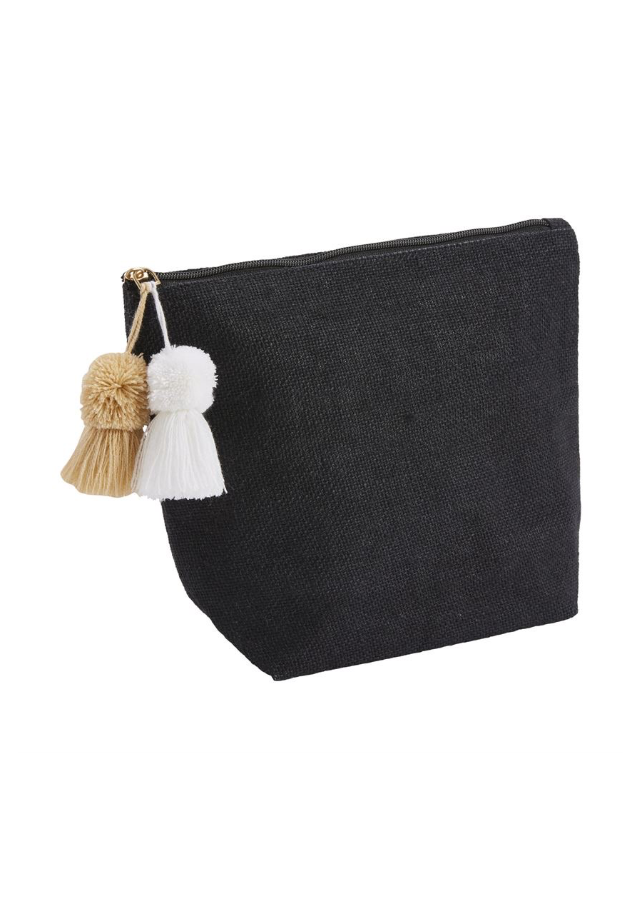 Mud Pie Jute Tassel Case
