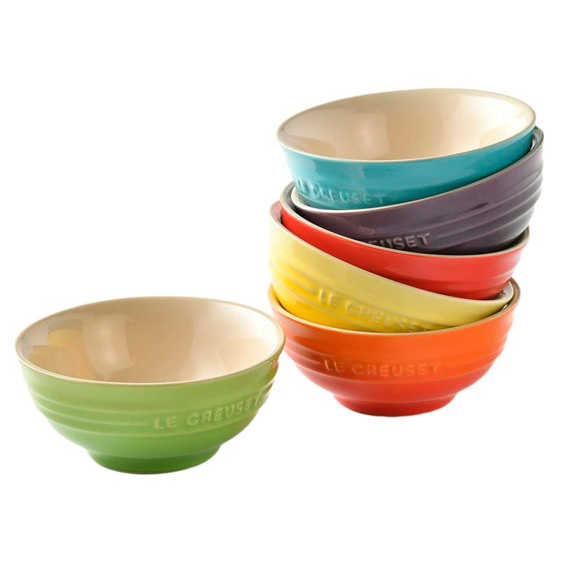 Mini Bowls Rainbow Le Creuset (set de 6)